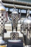 IndyCar: May 25 Indianapolis 500. May 25, 2019 - Indianapolis, Indiana, USA: The Borg Warner Trophy is displayed before the ring presentation as the Indianapolis royalty free stock photo