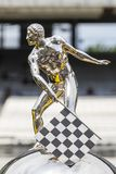 IndyCar: May 25 Indianapolis 500. May 25, 2019 - Indianapolis, Indiana, USA: The Borg Warner Trophy is displayed before the ring presentation as the Indianapolis royalty free stock photos