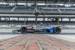 IndyCar:  May 17 Indianapolis 500. May 17, 2019 - Indianapolis, Indiana, USA: CONOR DALY 25 of The United States crosses the yard of bricks as he prepares to royalty free stock images