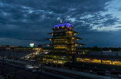 IndyCar: May 26 Indianapolis 500. May 26, 2019 - Indianapolis, Indiana, USA: The sun rises on the Indianapolis Motor Speedway as it plays host to the royalty free stock image