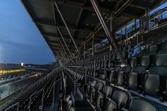 IndyCar: May 26 Indianapolis 500. May 26, 2019 - Indianapolis, Indiana, USA: The sun rises on the Indianapolis Motor Speedway as it plays host to the stock photos