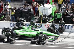 IndyCar: May 27 Indianapolis 500. May 27, 2018 - Indianapolis, Indiana, USA: DANICA PATRICK 13 of the United States comes down pit road for service during the stock photos