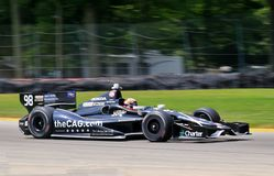 Indycar Series race event. Open wheeled Indycar Series rookie driver Jack Hawksworth from England drives the number 98 Honda on the track Stock Image