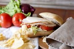 Indycza kanapka na babeczce zdjęcie royalty free