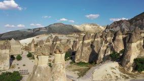Indyczy Cappadocia odpowiedni krajobraz, strzela od trutnia zdjęcie wideo