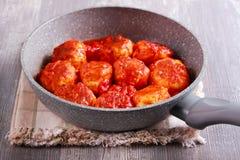 Indyczy klopsiki z pomidorowym kumberlandem Fotografia Royalty Free