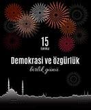 Indyczy wakacyjny Demokrasi ve özgà ¼ rlà ¼ k Birlik Gunu 15 Temmuz ilustracji