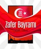 Indyczy wakacyjny Zafer Bayrami 30 Agustos Obrazy Stock