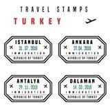 Indyczy wiza znaczki Fotografia Royalty Free