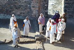 indyjscy pielgrzymi zdjęcie royalty free