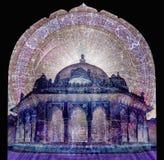 indyjska świątyni ilustracji
