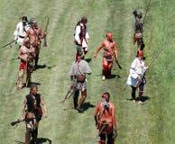 indyjska francuskiej wojny obraz stock