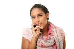 indyjska myśląca kobieta Obraz Stock