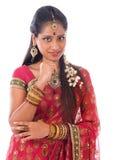 indyjska myśląca kobieta Obrazy Royalty Free