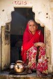 indyjska portret kobiety Obrazy Royalty Free