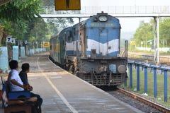 indyjska, stacja kolejowa Zdjęcie Royalty Free
