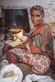 indyjski żeński sprzedawca Fotografia Stock