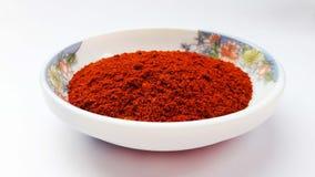 indyjskich pikantność czerwony chili na białym tle obraz stock