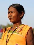 indyjskiego portreta plemienna kobieta Zdjęcie Stock