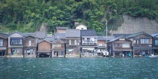 Ine从Ine镇的没有Funaya在京都,日本 库存图片