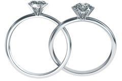 Ineengestrengelde de ringen van de diamant royalty-vrije illustratie