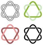 Ineengestrengelde geïsoleerde driehoeken Royalty-vrije Stock Fotografie
