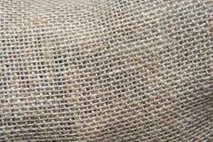 Ineengestrengelde textuur van ruwe draad jute stock afbeelding