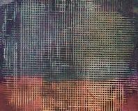 Ineinander greifenmuster auf überlagertem Acryllack Lizenzfreies Stockfoto