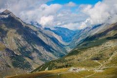 Ineinander greifensporne nahe dem Matterhorn-Berg in Zermatt, die Schweiz lizenzfreies stockbild