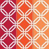 Ineinandergegriffenes geometrisches Muster Stockfotografie