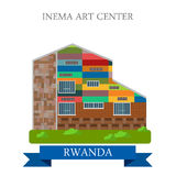 Inema Art Center in Rwanda Flat historic vector il Royalty Free Stock Photography