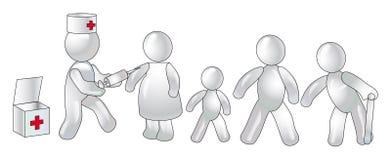 Inenting van verschillende lagen van de bevolking Stock Afbeeldingen