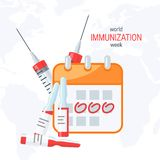 Inentingsconcept, vectorbeeld in vlakke stijl royalty-vrije illustratie
