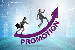 Inequal promotion concept between man and woman royalty free stock image