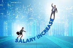 Inequal wynagrodzenia pojęcie między mężczyzną i kobietą zdjęcie stock