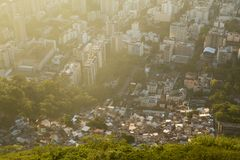 Inequality - contrast between poor and rich in Rio de Janeiro, B. Inequality - contrast between poor and rich in Rio de Janeiro city, Brazil Stock Photography