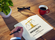 Inequality Difference Diversity Imbalance Racism Concept.  royalty free stock photo