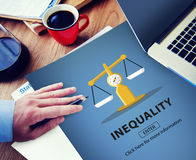 Inequality Difference Diversity Imbalance Racism Concept stock photo