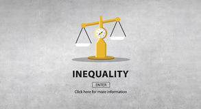 Inequality Difference Diversity Imbalance Racism Concept vector illustration