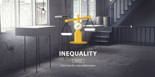 Inequality Difference Diversity Imbalance Racism Concept. Inequality Difference Diversity Imbalance Racism vector illustration