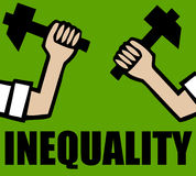Inequality. Fighting inequality in society and communities Stock Images