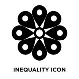 Inequality icon vector isolated on white background, logo concep royalty free illustration