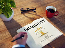 Inequality Imbalance Victims Prejudice Bias Concept royalty free stock photography