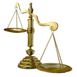 Inequality Scales. An empty gold justice scale with one side outweighing the the other on an isolated background vector illustration