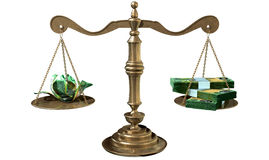 Inequality Scales Of Justice Income Gap Australia Stock Image