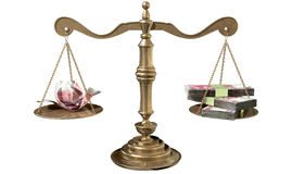 Inequality Scales Of Justice Income Gap China Stock Image