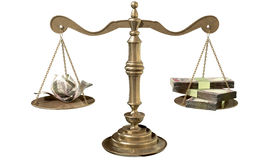 Inequality Scales Of Justice Income Gap India Stock Photography