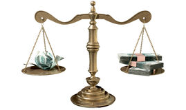Inequality Scales Of Justice Income Gap Russia Royalty Free Stock Photos