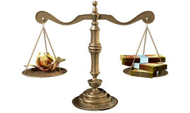 Inequality Scales Of Justice Income Gap South Africa Stock Image