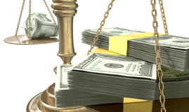 Inequality Scales Of Justice Income Gap USA Stock Image
